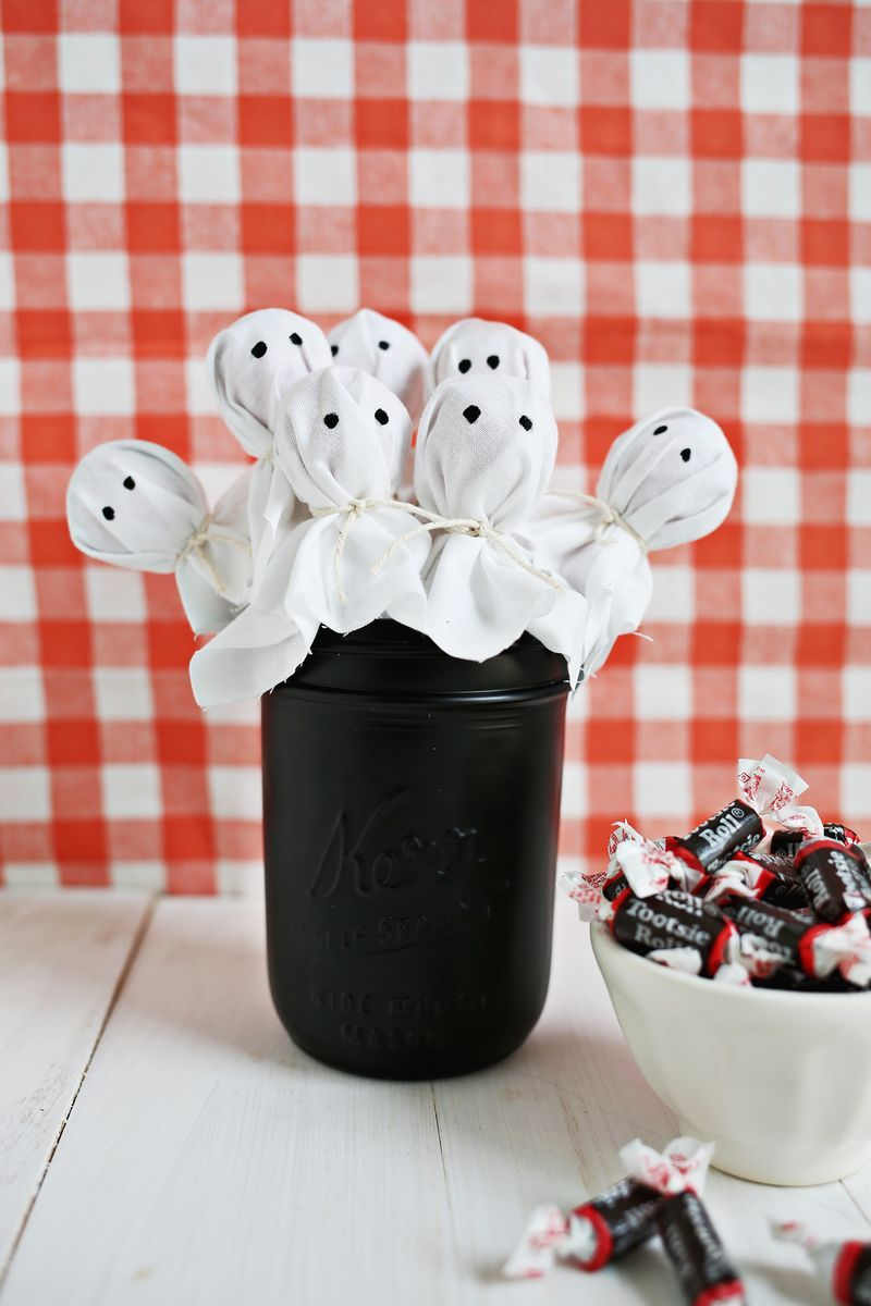 Ghost lollipops Halloween ideas Pinterest Easy halloween - Halloween Ghost Decorations