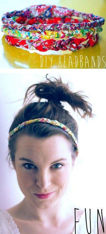 DIY Easy Fabric Braided Elastic Headband Tutorial
