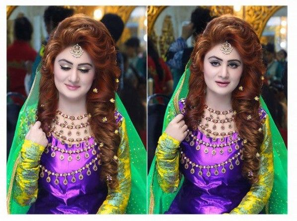 Mehndi Makeup And Hairstyle : Latest makeup ideas for mehndi amazing