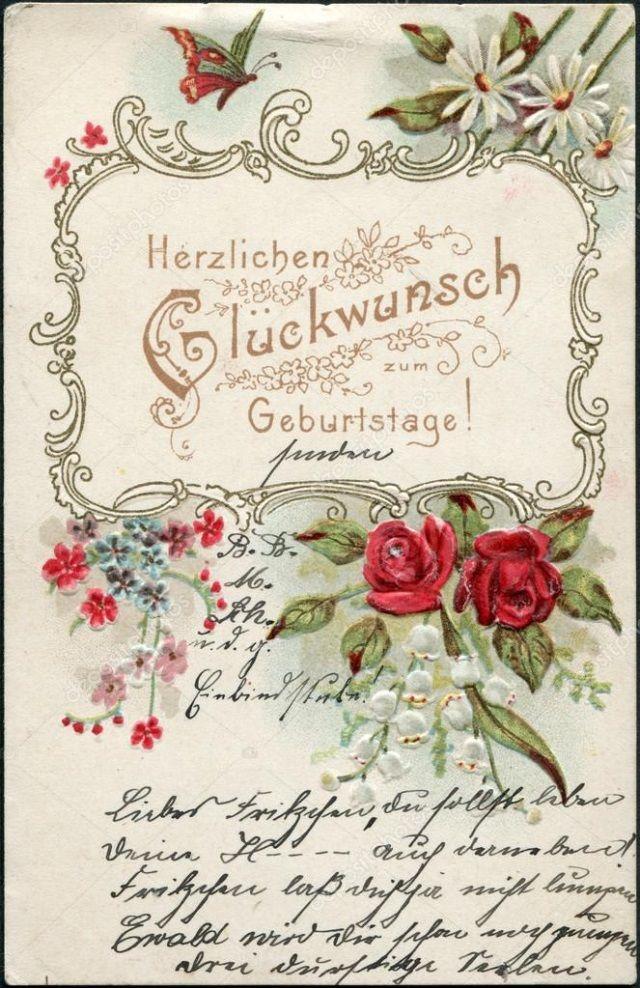Как подписать открытку ко дню рождения на немецком языке, самыми красивыми розами