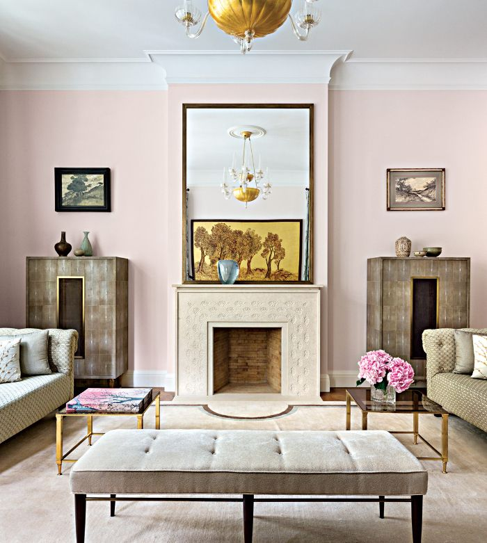 Interior Design  Pink Walls Blush Pink And Living Rooms Amusing Pink Living Room Furniture Review