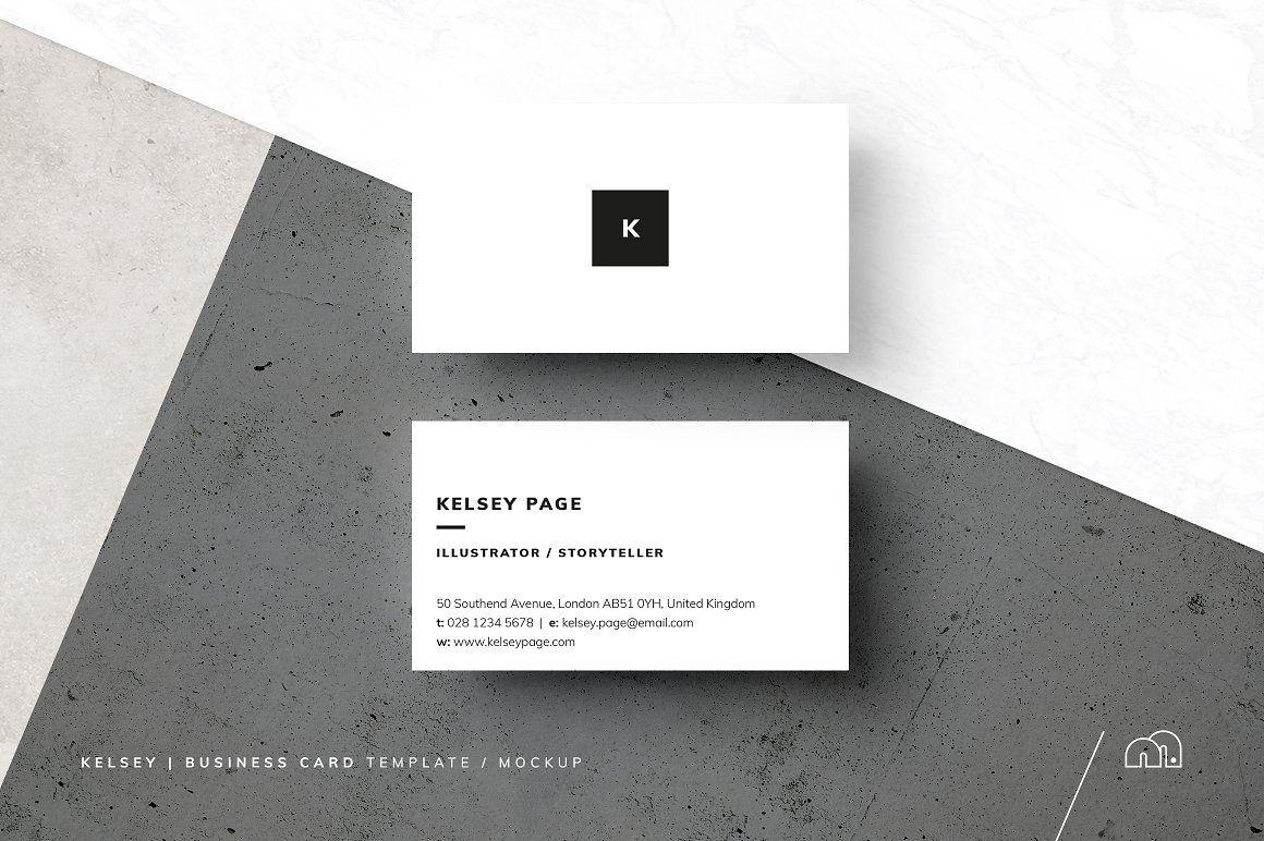 Business Card - Kelsey - Business Cards #mockup #businesscards ...