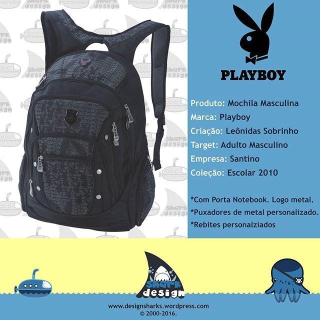 E outra pra completar a linha masculina da Playboy.  #Playboy #playboy #acessorios #acessórios #highschool #handbag #backpack #mochilas #desenvolvimentodeprodutos #productdesign #projectdesign #graphicdesign #leonidasdesigner #sharks