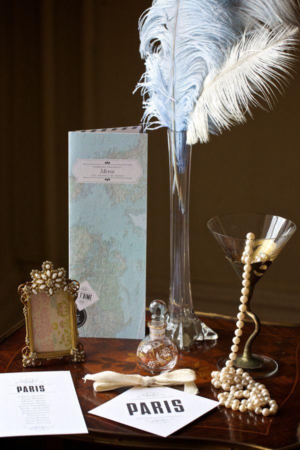 Vintage Ostrich Feather Wedding 14