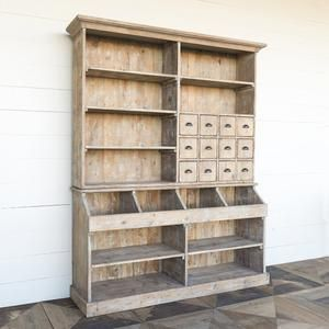 Photo of Old Town Store Wooden Hutch Cabinet