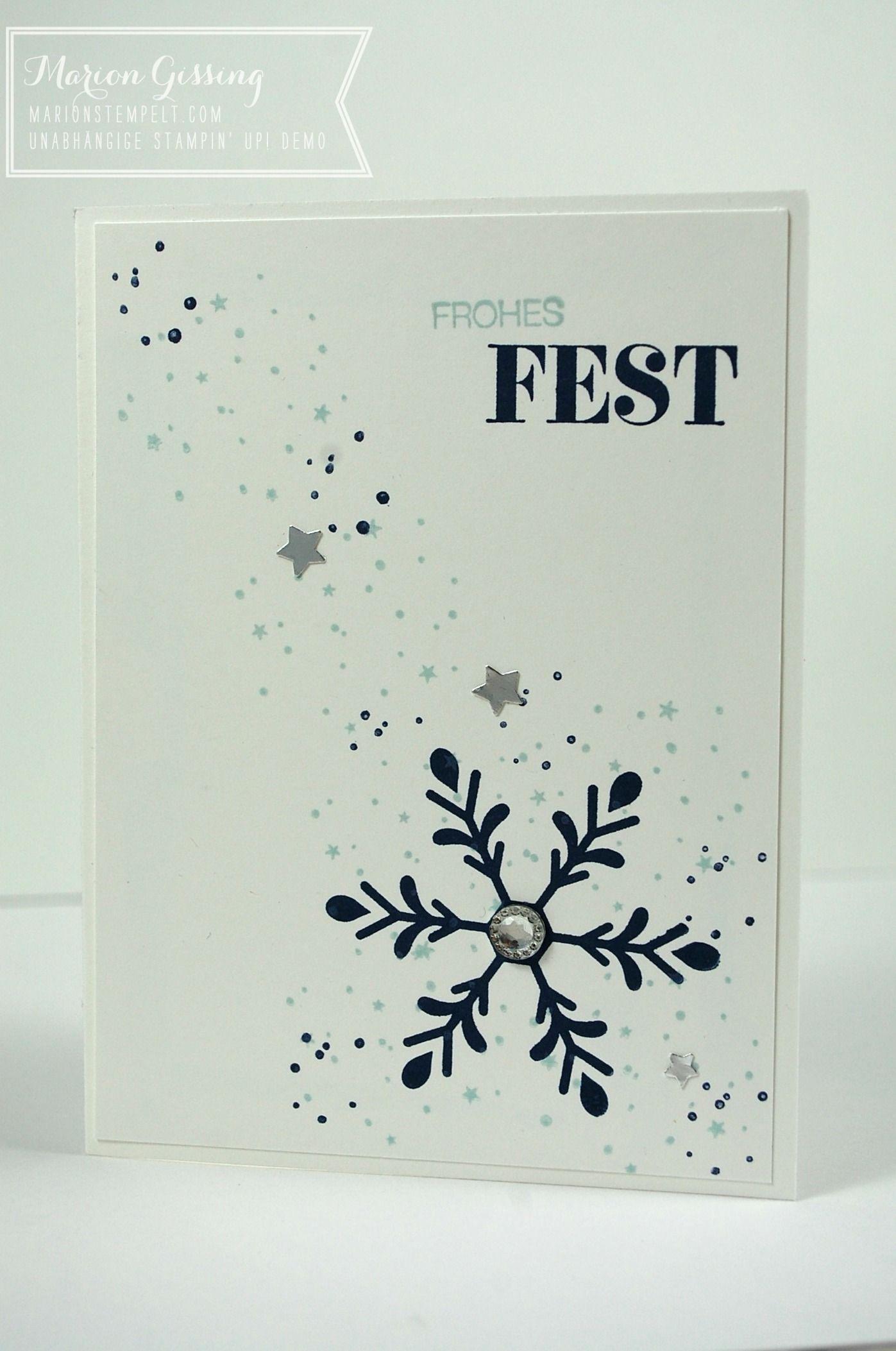 Winterliche Weihnachtsgrüße.Inspire Me Challenge 228 Christmas Special Flockentanz My
