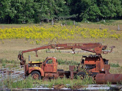 Old logging truck | Old Logging | Abandoned cars, Mack ...