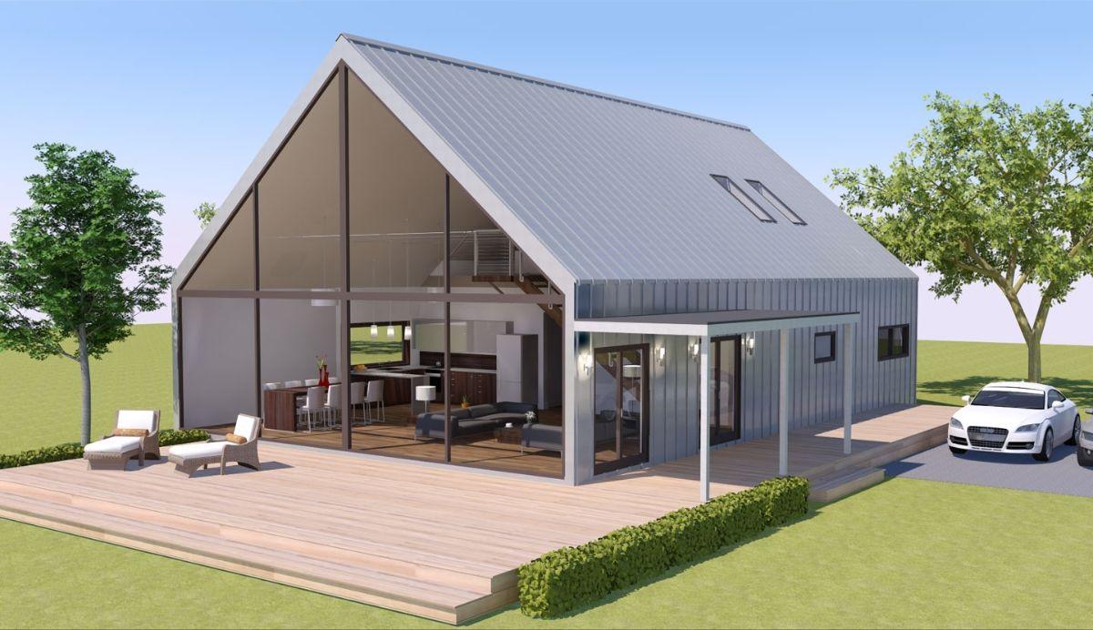 Prefab loft homes jet prefab modbarn prefab home view for Modular homes with lofts