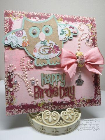 Owl Cricut card. (Straight From the Nest)