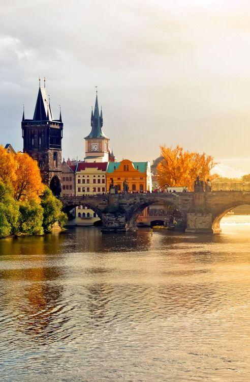 The Charles Bridge, Prague, Czech Republic.