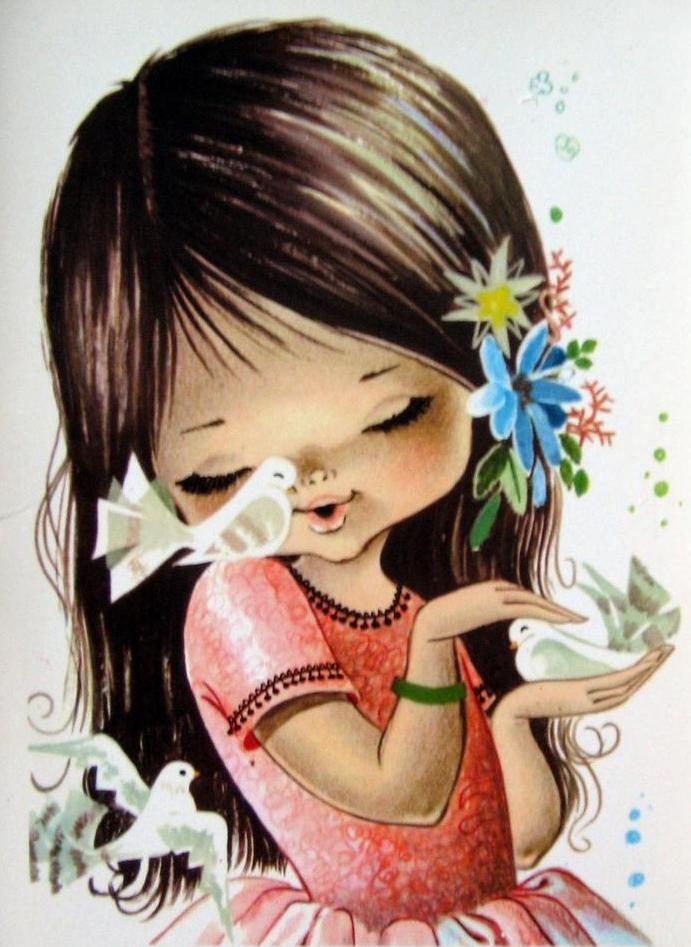 Красивые нарисованные картинки открытки для детей, для