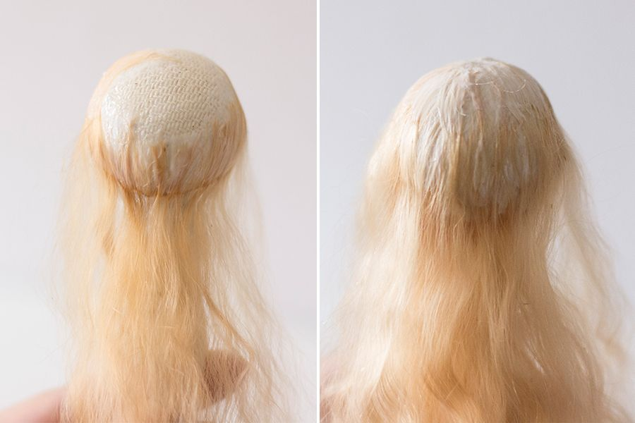 how to make wig for doll