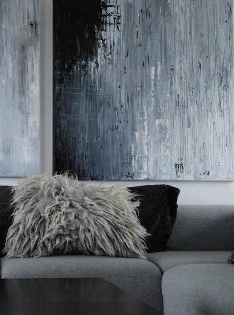 Louise Smærup white white fluffy pillows and sequin pillows