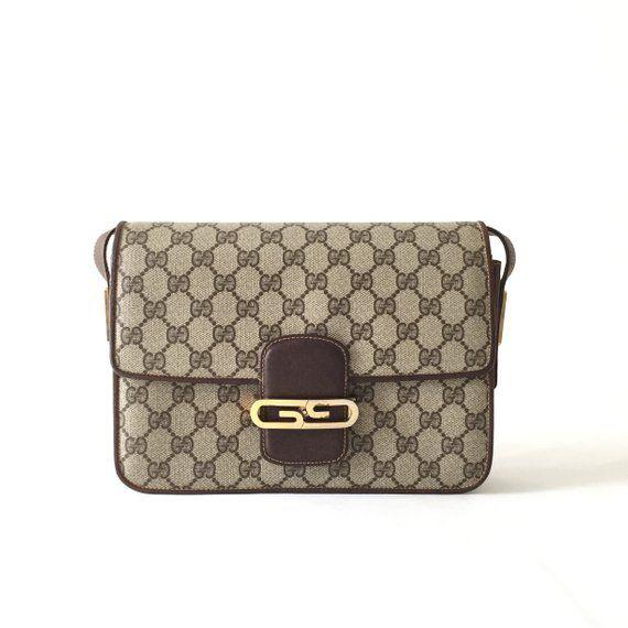 8aebeecd2 Authentic VTG Gucci GG pattern shoulder bag | Gucci Vintage Bag ...