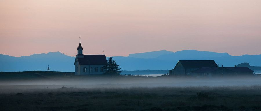 Church in the fog. #Vik. #Iceland. from Trey Ratcliff at http://www.StuckInCustoms.com - all images Creative Commons Noncommercial
