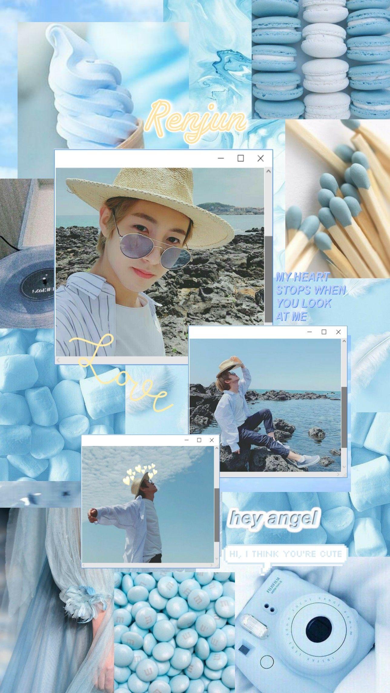 Renjun Blue Aesthetic Gambar Simpel Gambar