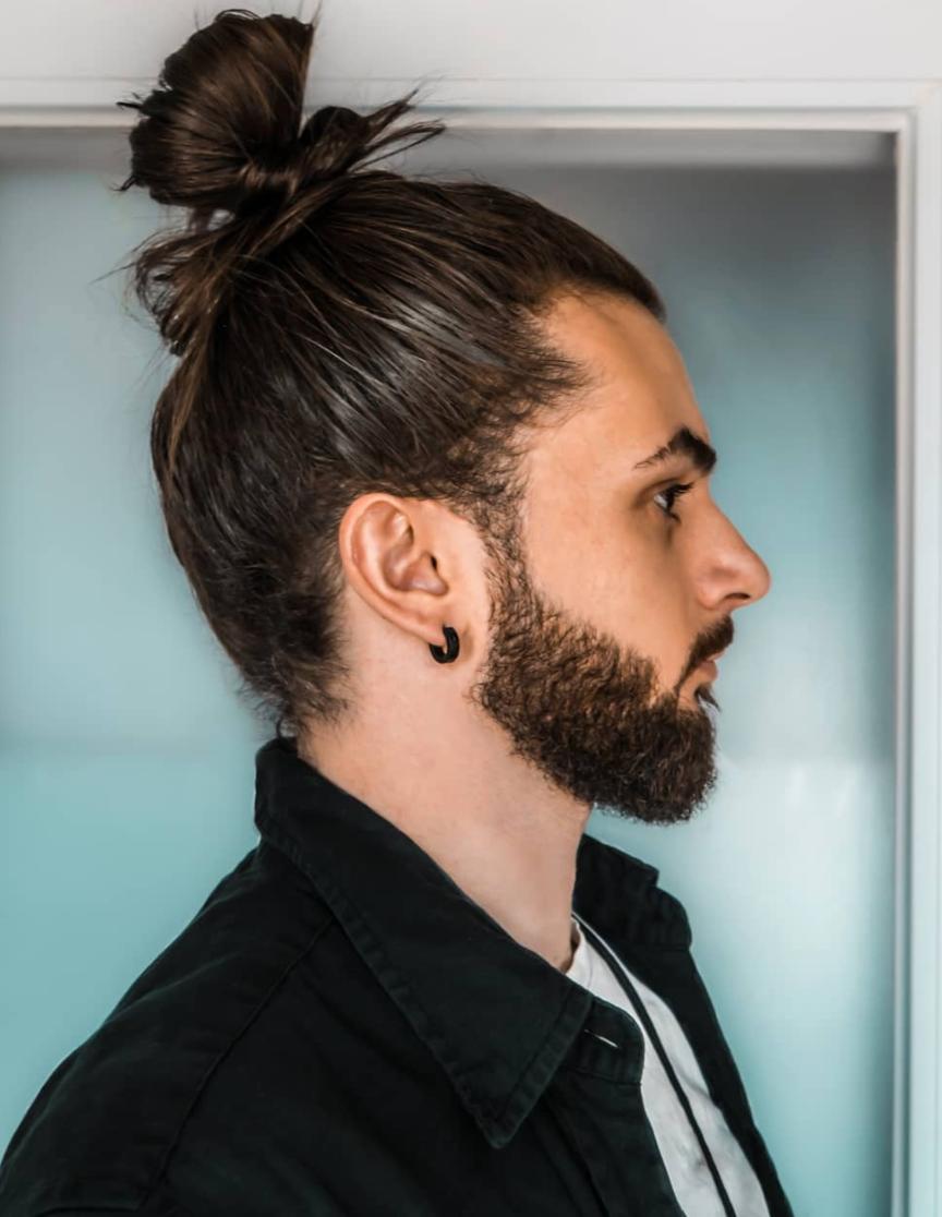 High Man Bun Hairstyle