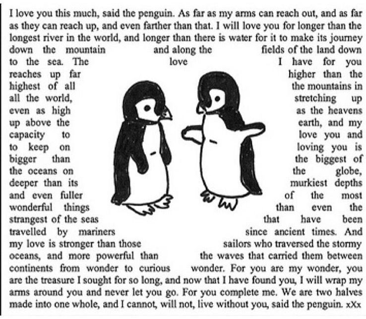 Penguin Love Quotes Amazing I Love You This Much Said The Penguin Wedding Engagement