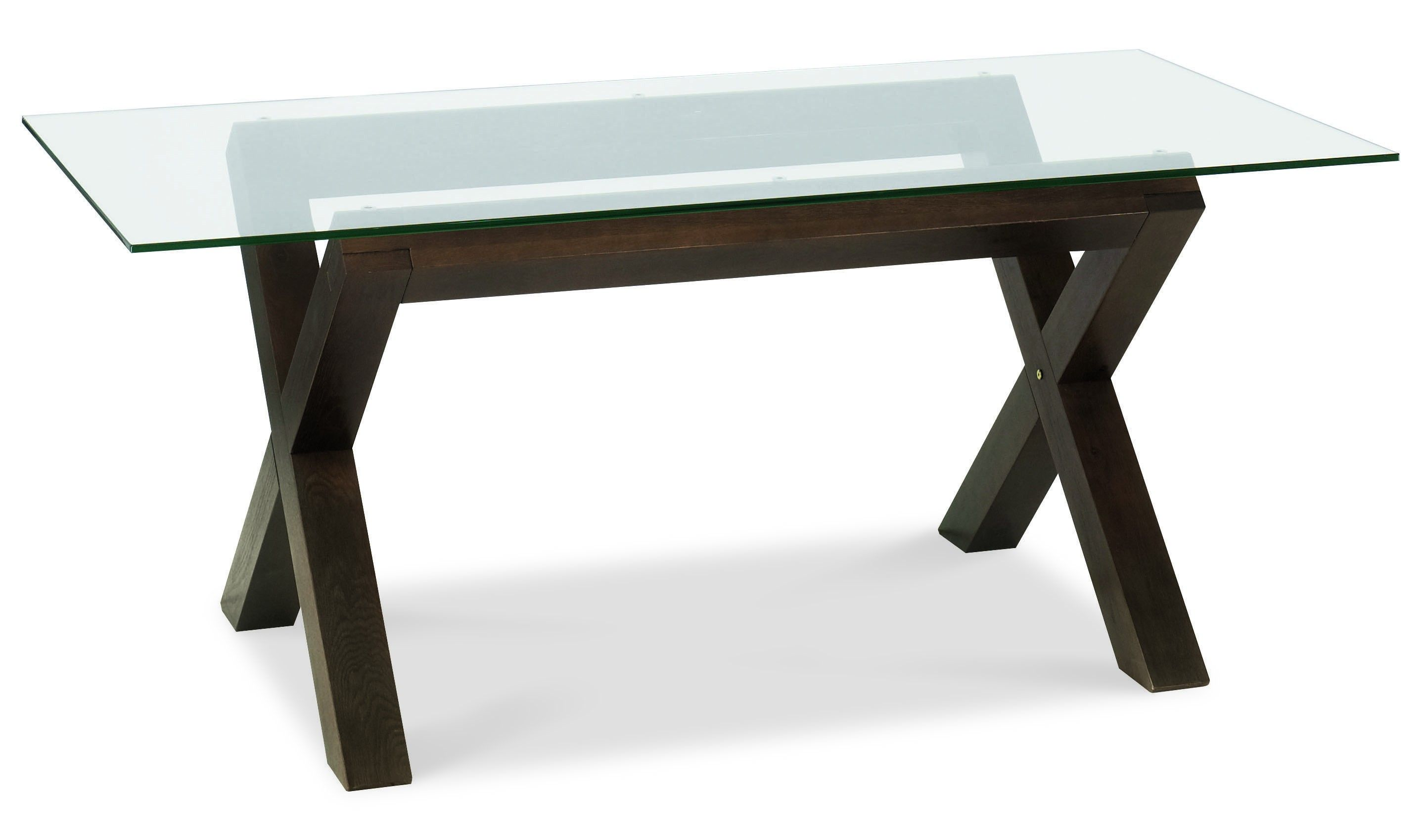 Rectangle Glass Dining Table dining room. rectangle glass top table with crossed black wooden
