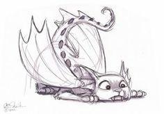 Draconis felis by ericscalessketchbook.blogspot.com
