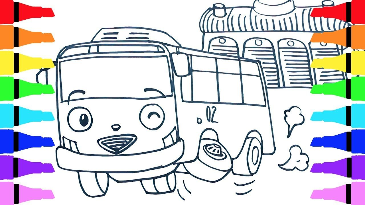 Tayo the little bus rani draw coloring for kids children draw