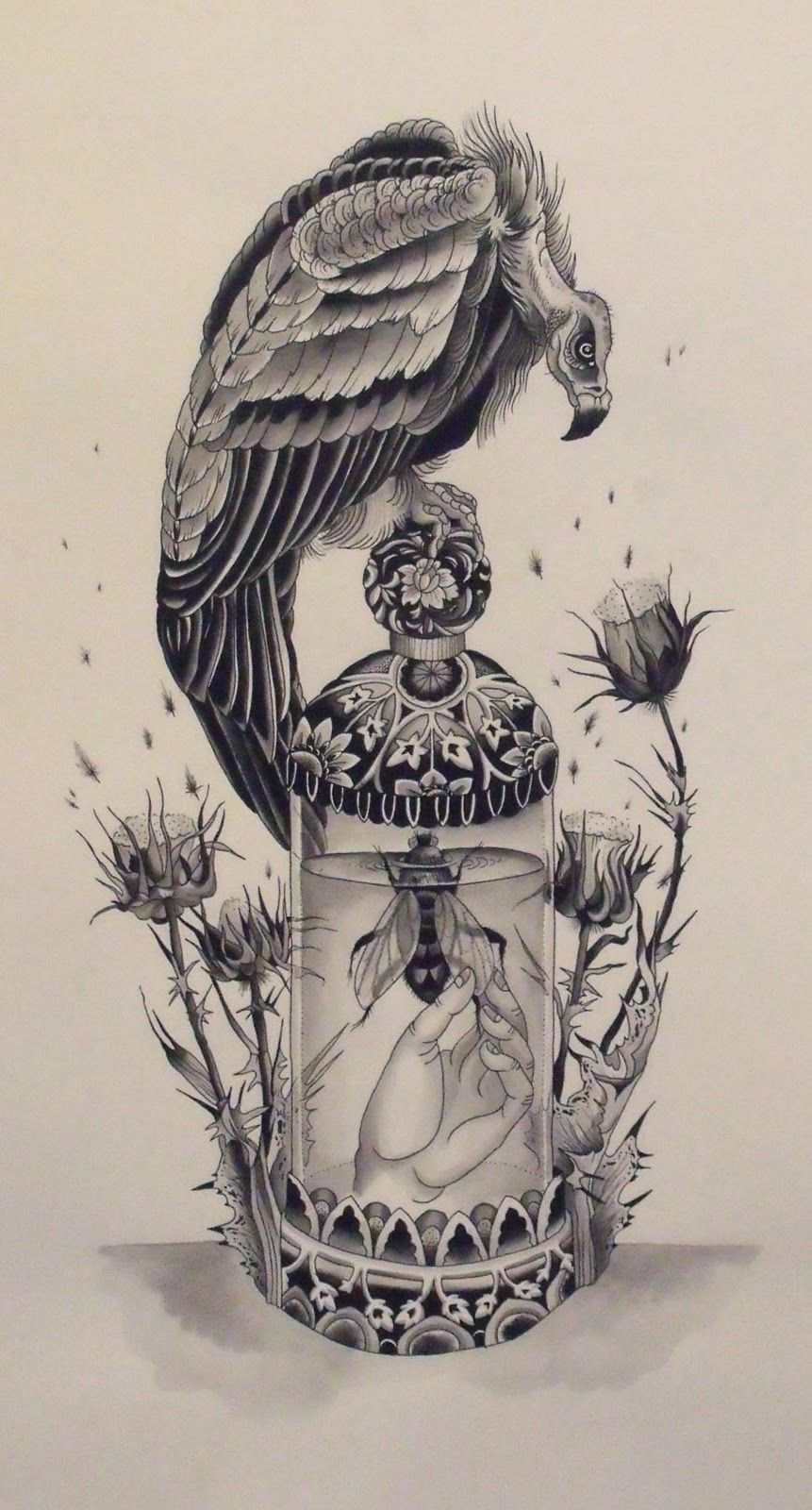 Vulture Tattoo Google Search On We Heart It Art Tattoo Art Traditional Vulture Tattoo