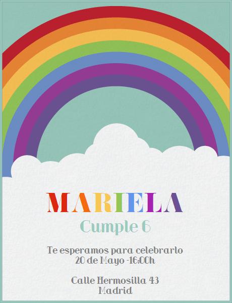 Fiesta Arcoiris Celebra Con Estilo Con Las Invitaciones Y
