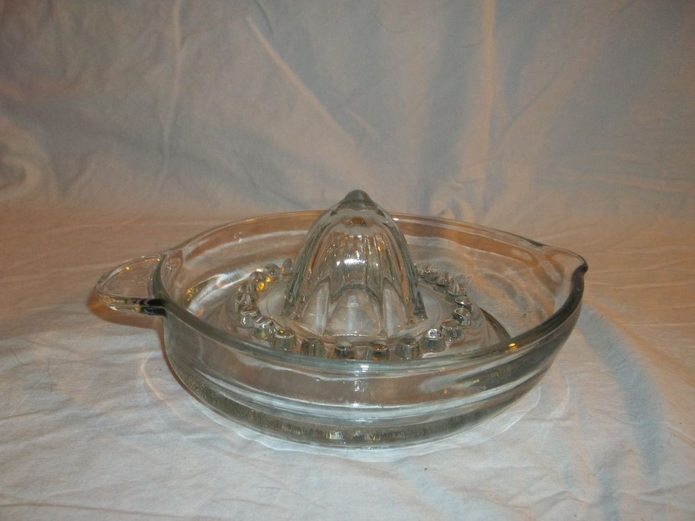 FREE Expedited Shipping Vintage Clear Glass Fruit Juicer