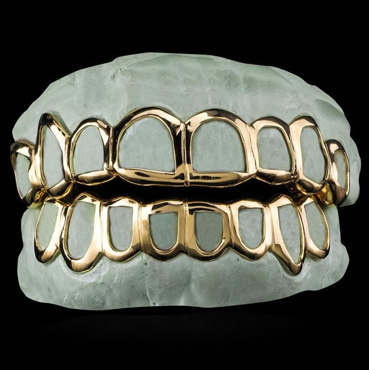 Custom Fit Solid Gold Open Face Grillz Open Face Grillz Gold Grillz Grillz
