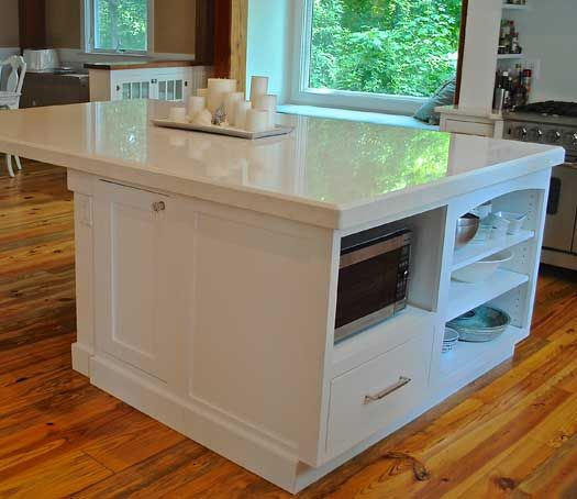 Fieldstone Cabinetry Fairfield Door Style In Maple Finished In White.