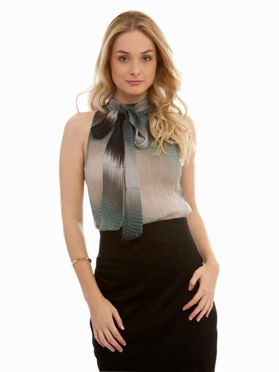fcf849265 Modelos de Blusas Sociais Femininas – Fotos Mais Camisetas Sociais