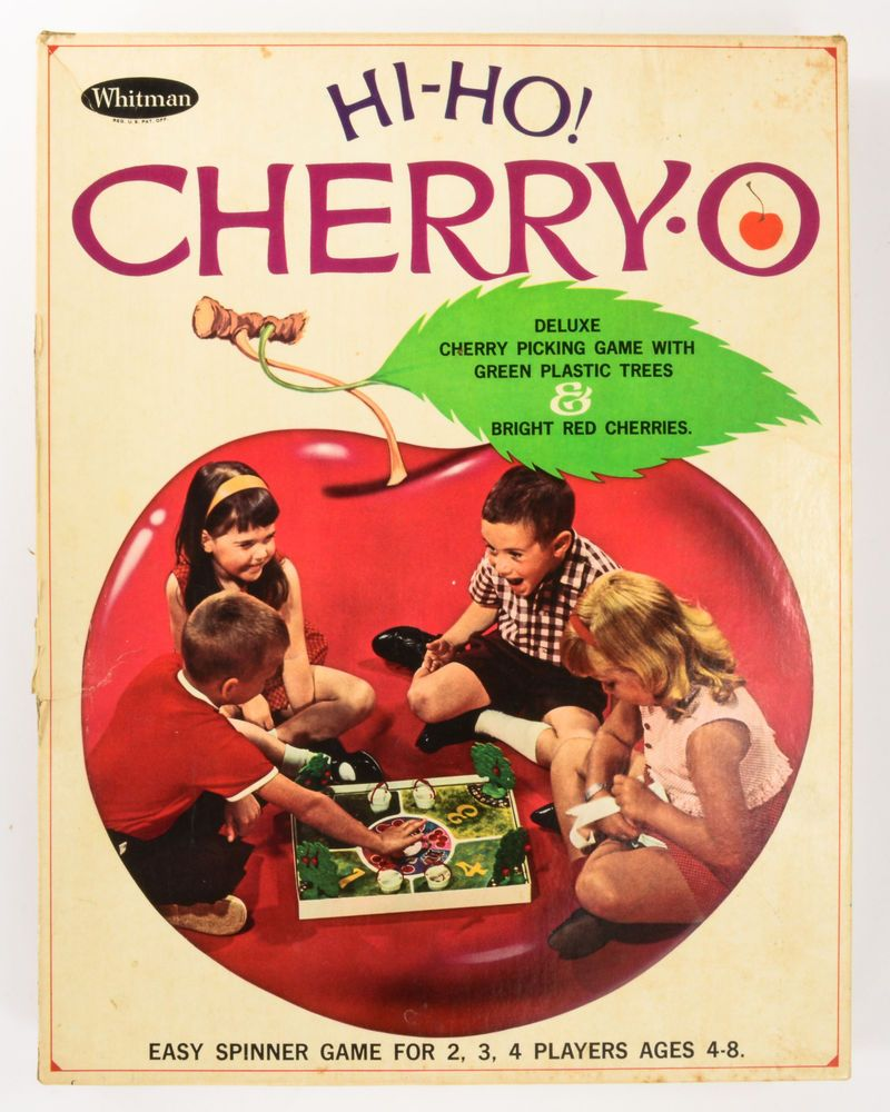Hi-Ho! Cherry-O 1966 Edition Mid-Century Hermann Wernhard Design ALL 40 CHERRIES #Whitman
