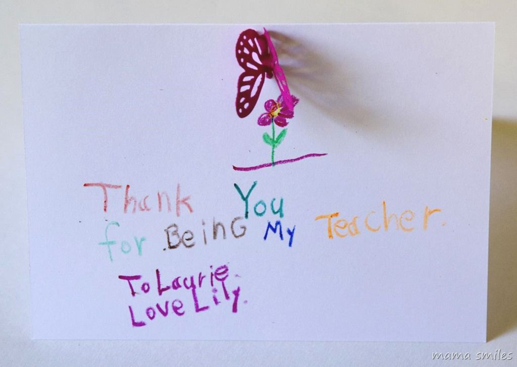 Teacher Thank You Cards for Kids to Make Teacher - thank you notes for teachers