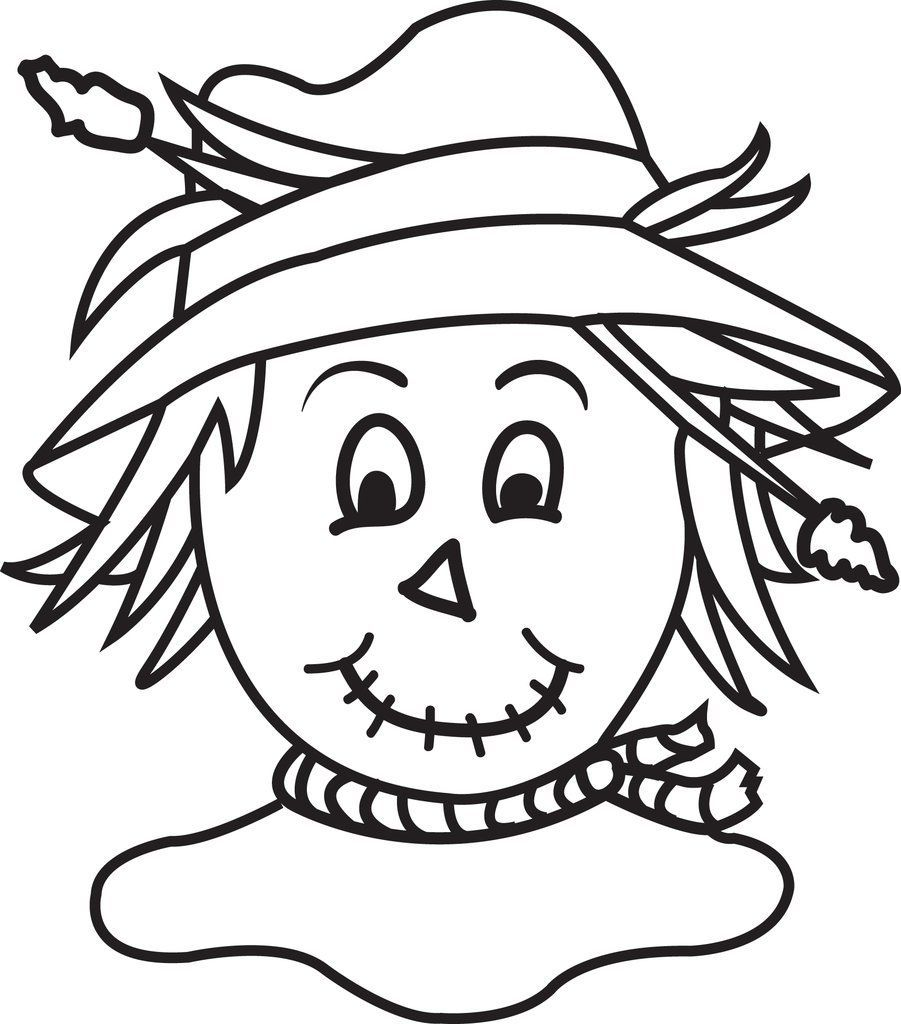 Printable Scarecrow Coloring Page For Kids In 2020 Halloween Coloring Pages Fall Coloring Pages Halloween Coloring