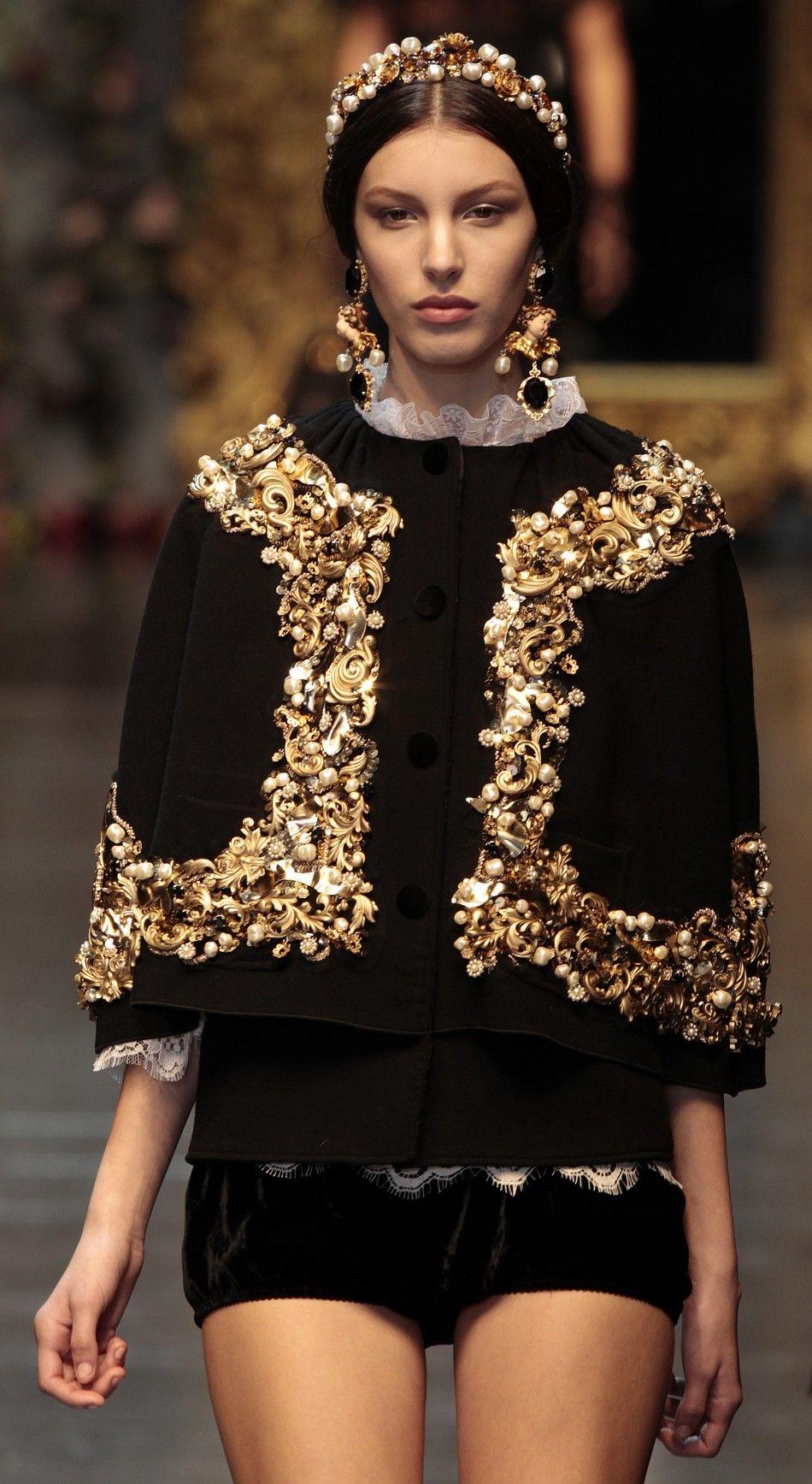 "Dolce & Gabbana's ""Baroque Romanticism"" at 2012 Milan Fashion Week"