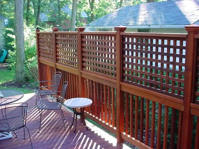 Adding privacy screen existing deck google search for Townhouse deck privacy ideas