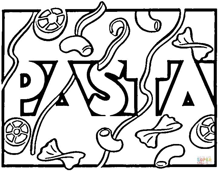 Italian Pasta Coloring page | Free Printable Coloring Pages | italie ...