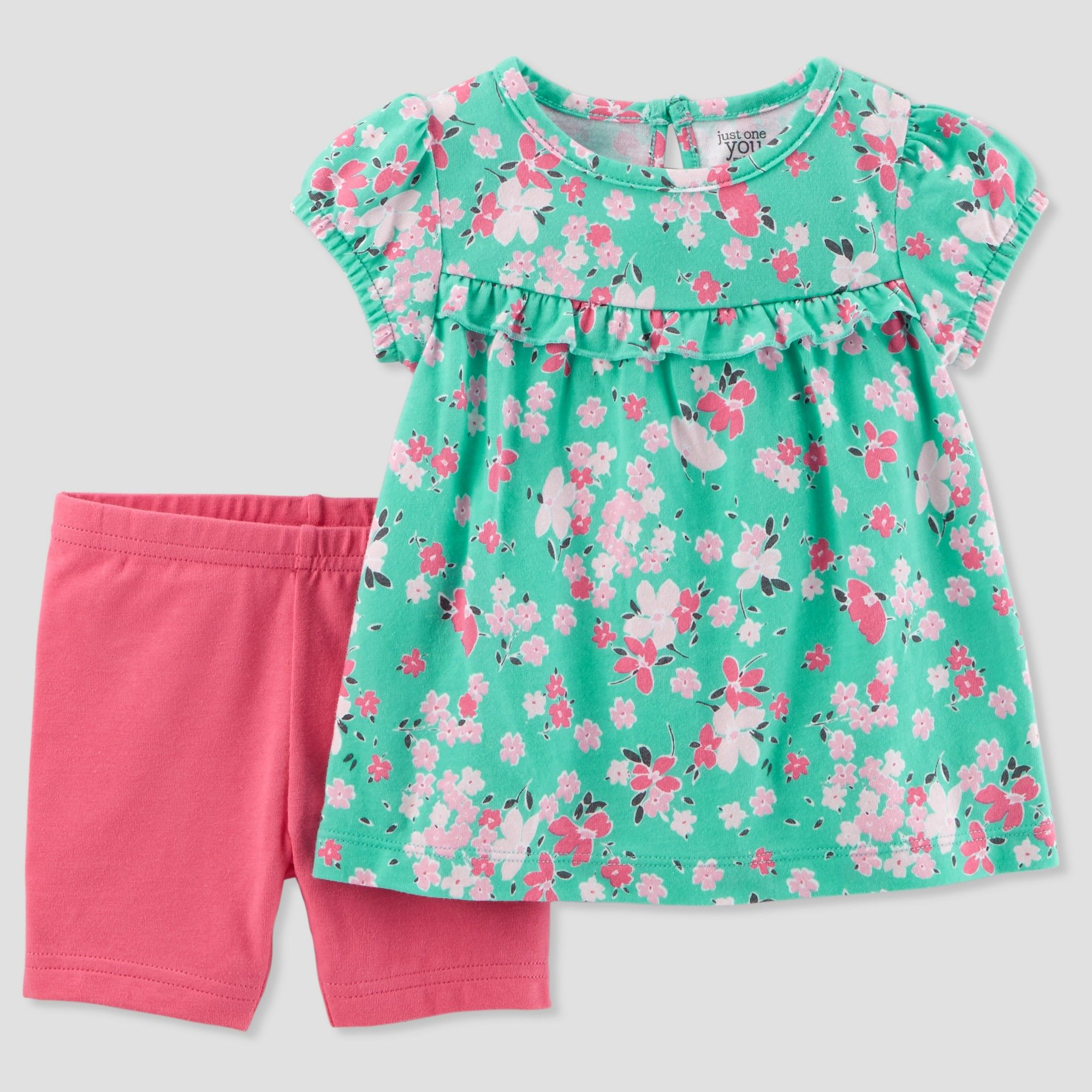 885bf5e4a Toddler Girls' 2pc Floral Shorts Set - Just One You made by carter's Green/ Pink 5T