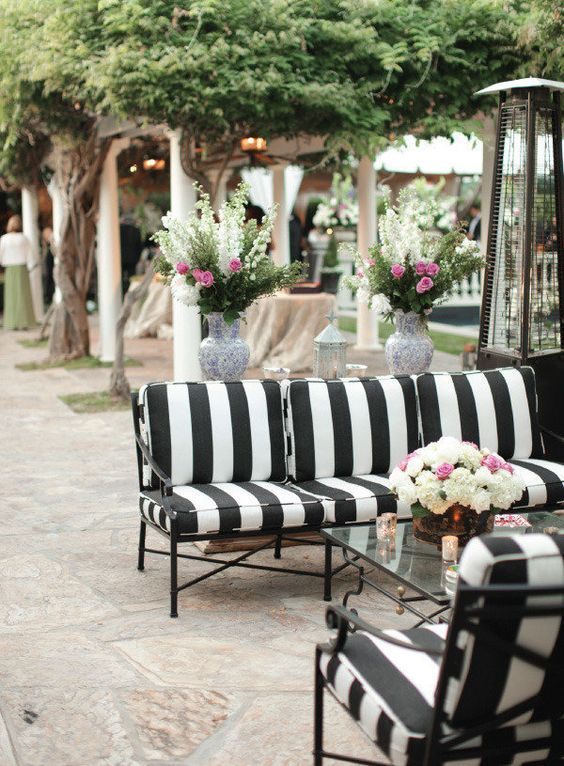 Outdoor Chic Black And White Stripes One Kings Lane Collection The Decorista