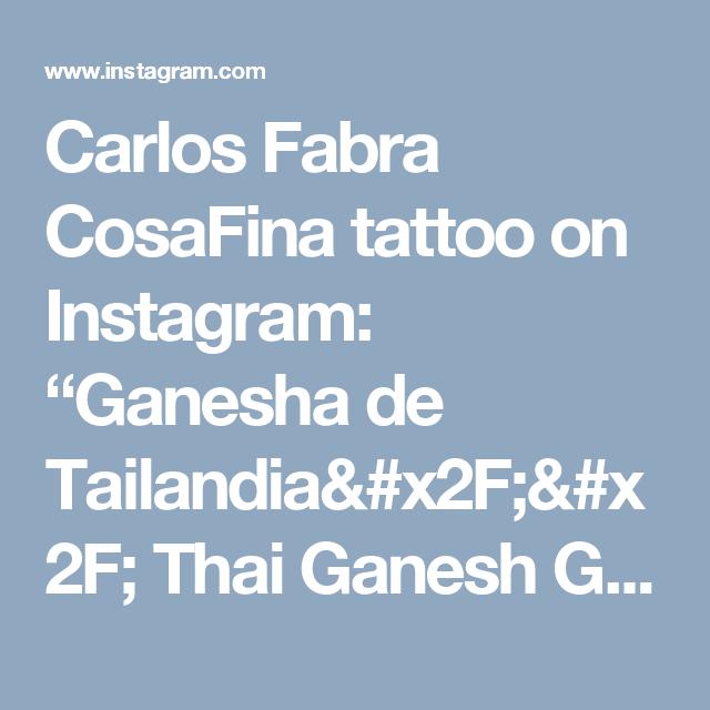 """Carlos Fabra   CosaFina tattoo on Instagram: """"Ganesha de Tailandia// Thai Ganesh Gracias Jose por confiar en mi para conmemorar un viaje tan importante en tu vida. Que este amuleto te…"""""""