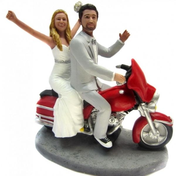 cool The Various Choices of Motorcycle Wedding Cake Toppers