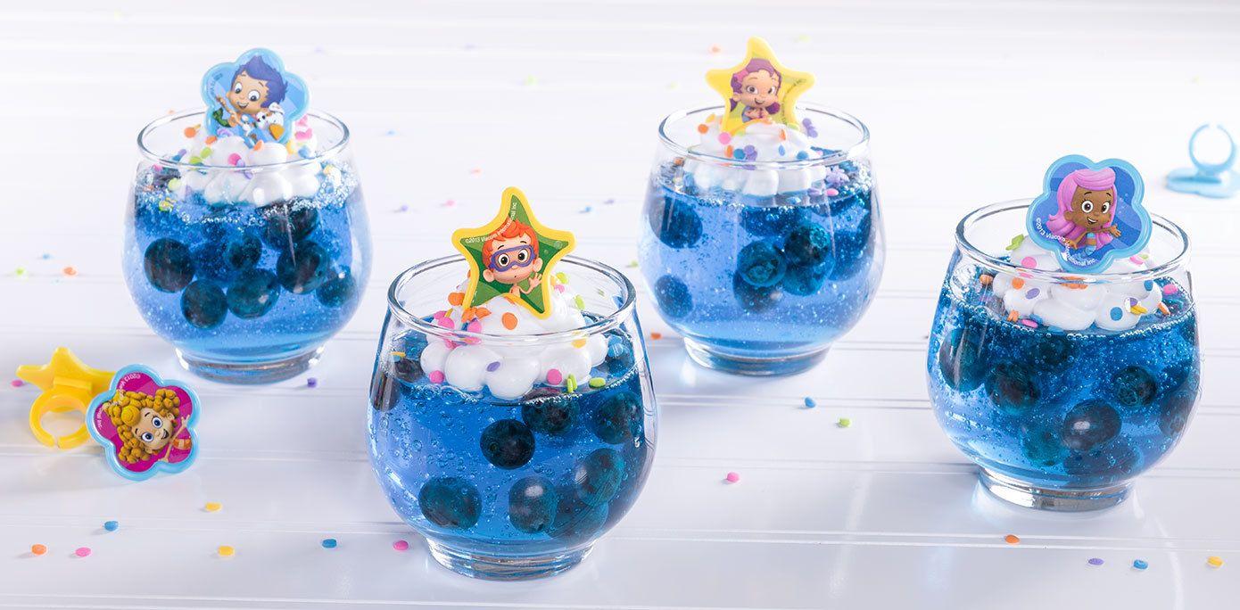 Cómo-Hacer de Bubble Guppies gelatina pecera Treats Cumpleaños