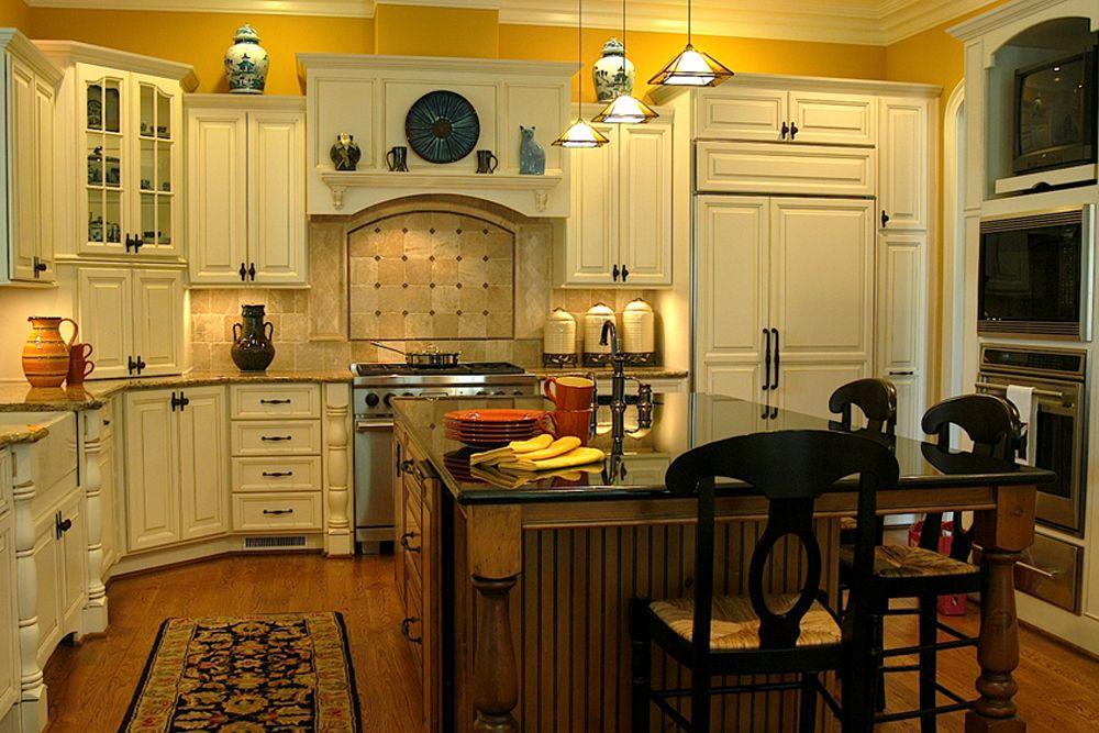 Best Design Yellow kitchen cabinets ideas Kitchen Pinterest