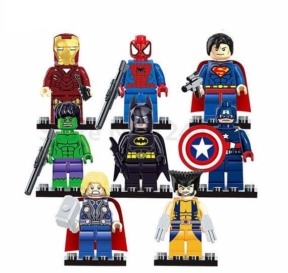 Custom Wonder Woman Super Heroes DC B Lego Fit Minifigure Building Toys