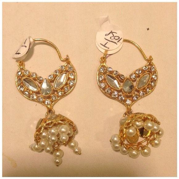 1 Gram Gold Earrings Indian Jewelry