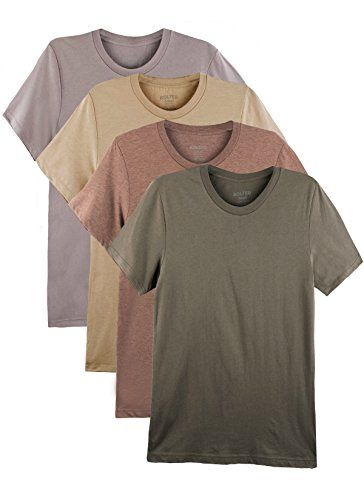 e8a52f122 4 Pack Bolter Men s Everyday Cotton Blend Short Sleeve T-shirts (Large
