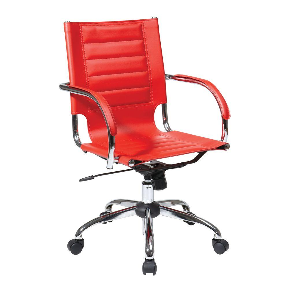 Osp Home Furnishings Trinidad Black Vinyl Office Chair Tnd941a Bk The Home Depot Vinyl Office Chair Office Chair Home Office Furniture