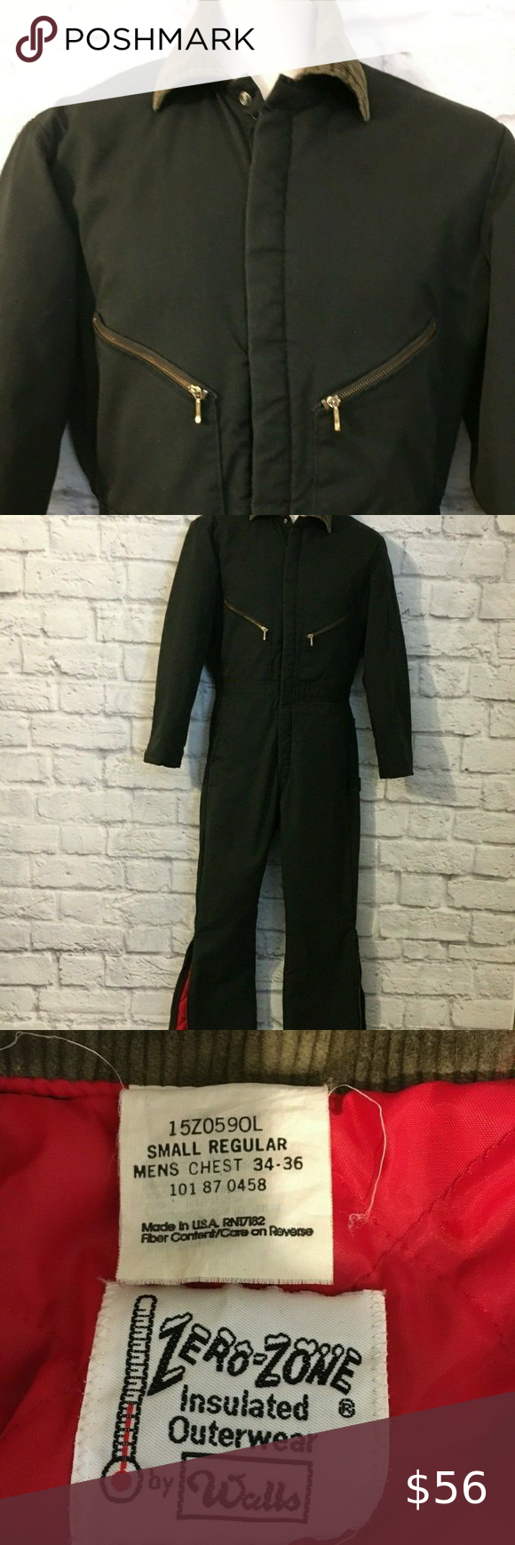 walls zero zone insulated coveralls outerwear work walls on walls hunting clothing insulated id=72780