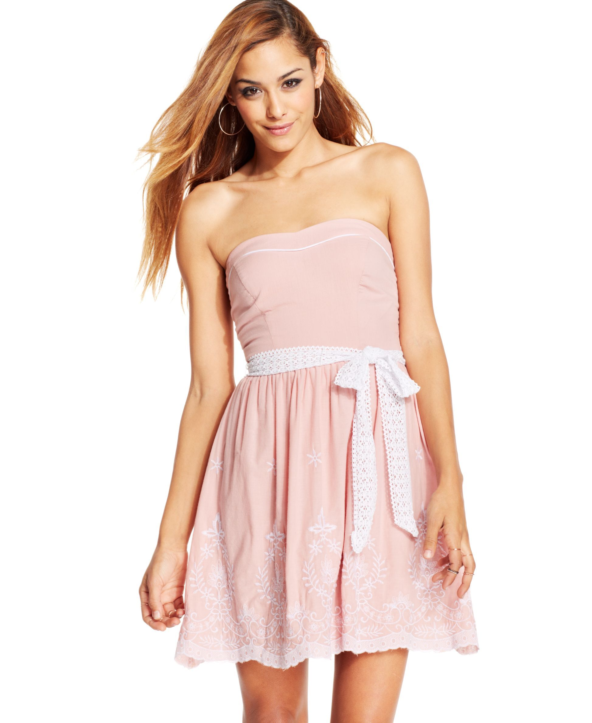 Speechless Juniors\' Strapless Embroidered Dress | Products | Pinterest