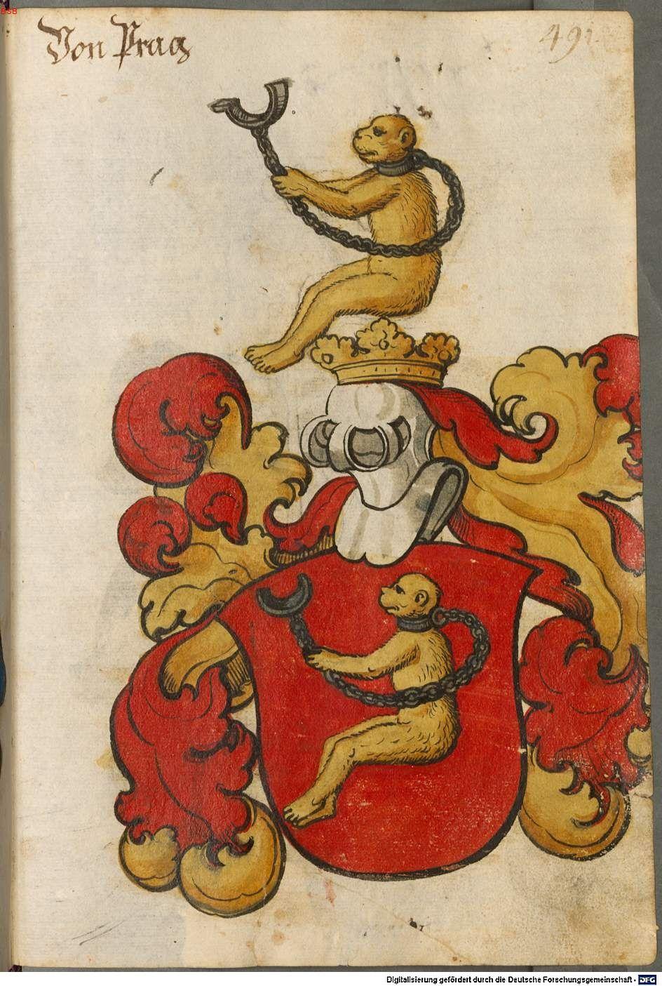 Scheibler'sches Wappenbuch Süddeutschland, um 1450 - 17. Jh. Cod.icon. 312 c Folio 491